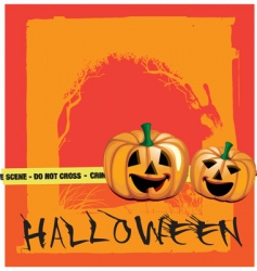 Scary pumpkin vector