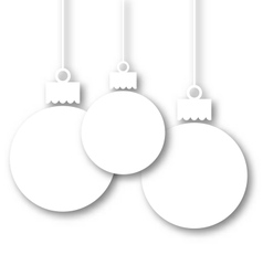 Set Christmas paper balls with copy space for your vector image