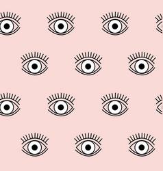 simple geometric eye pattern in black and vector image