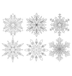 snowflake set 2 vector image