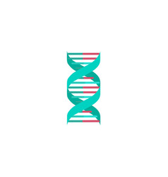 spiral green dna medical icon vector image