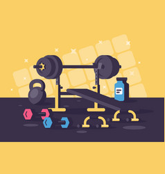 sport equipments for heavy training sessions vector image