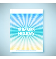 Summer rays holiday vintage on light sea report vector