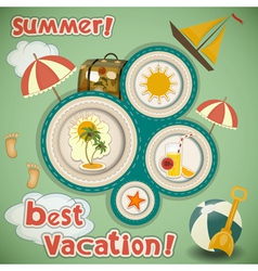 Summer Vacation Travel Card vector