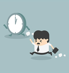 The time management Businessman running vector image