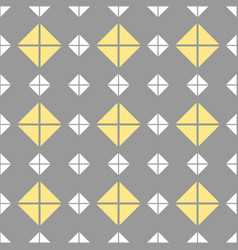 Tile pattern with grey yellow white background vector