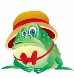 Toad in a hat vector