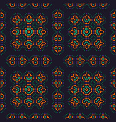 Traditionally native looking seamless pattern vector