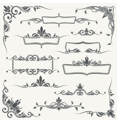 vintage frames corners and dividers vector image