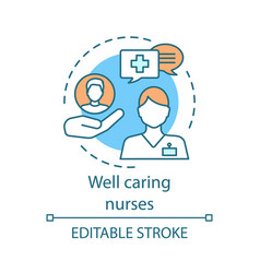 well caring nurses concept icon vector image
