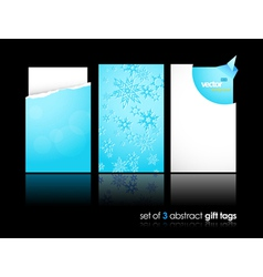 winter gift cards vector image