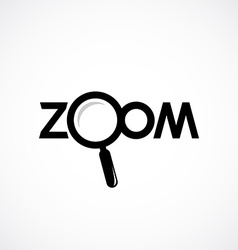 zoom icon with letters magnifying glass vector image