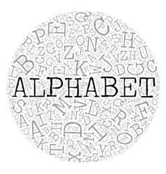 Alphabet circle theme with letter pattern on the vector image vector image