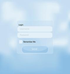 web login panel vector image