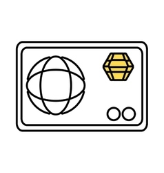 Credit card money isolated icon vector