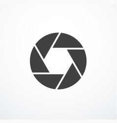 shutter icon vector image