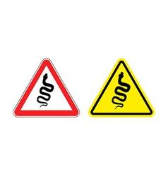 Warning sign of attention venomous snake Hazard vector image