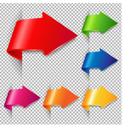 colorful arrow set vector image