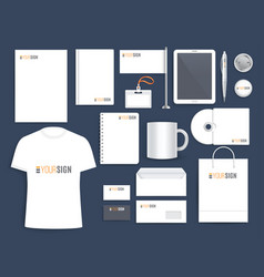 corporate identity template for business company vector image vector image