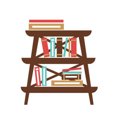 small stand with books vector image vector image