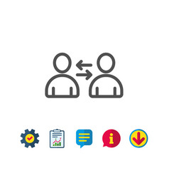 teamwork line icon profile avatar sign vector image