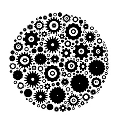 Cog wheels arranged in circle vector