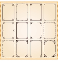 Decorative vintage frames and borders vector image vector image