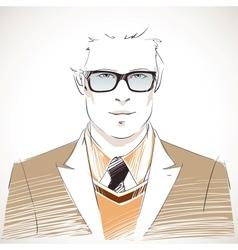 Handsome young businessman portrait vector image
