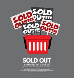 Sold Out Shopping Concept vector image vector image