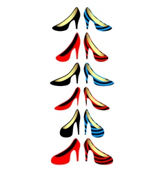 Womens shoes vector image