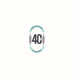 40 th anniversary celebrations elegant template vector