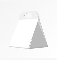 a gift bag made from paper by a pen on a white vector image