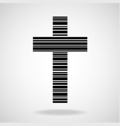 abstract cross of lines christian symbol vector image