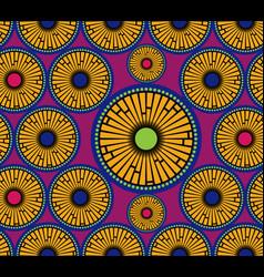African print fabric ethnic tribal handmade motifs vector