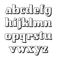 alphabet calligraphic font unique custom vector image vector image