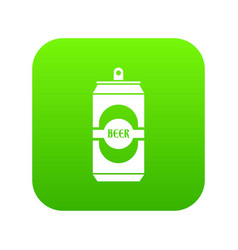 aluminum can icon digital green vector image