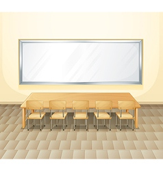 An empty meeting room vector