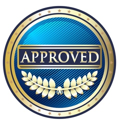 Approved Blue Label vector image