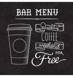 Bar menu of coffee proposal vector image