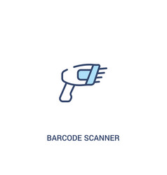 Barcode scanner concept 2 colored icon simple vector