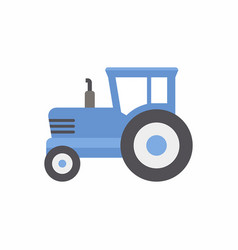 Blue tractor icon vector