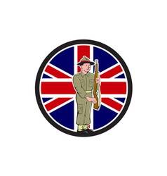 British world war ii soldier union jack flag vector