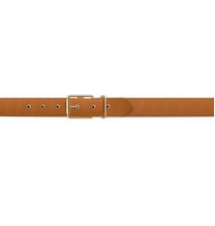 Brown belt or waistband realistic vector