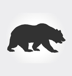 Brown grizzly bear silhouette vector