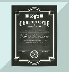 Certificate of appreciation frame template vector
