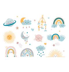 Children decorative elements vector