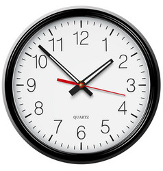 Classic round wall clock vector