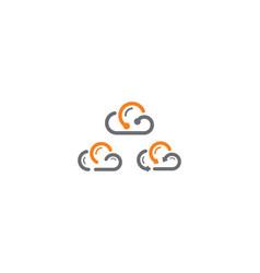 cloud telecommunications logo icon technolo vector image