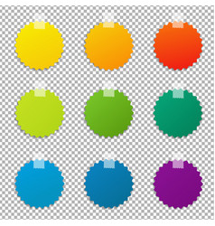 color labels set vector image