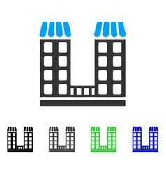 company buildings flat icon vector image